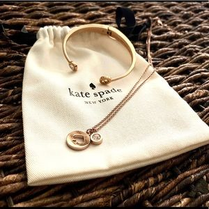Kate Spade Rose Gold Necklace & Bracelet